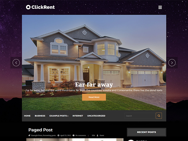 ClickRent Free WordPress Theme