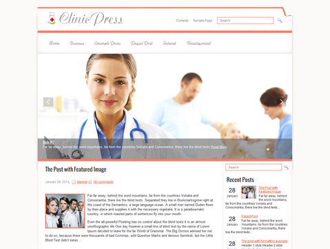 ClinicPress Free WordPress Theme
