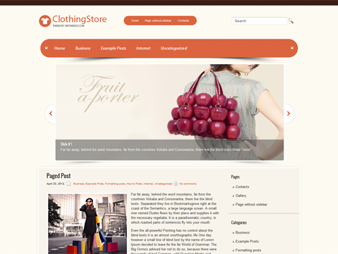 ClothingStore WordPress Theme