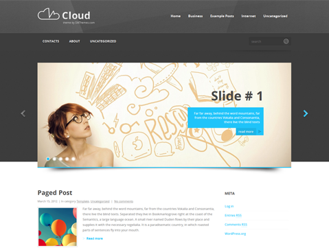Cloud Free WordPress Theme