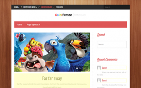 ColorPerson Free WordPress Theme
