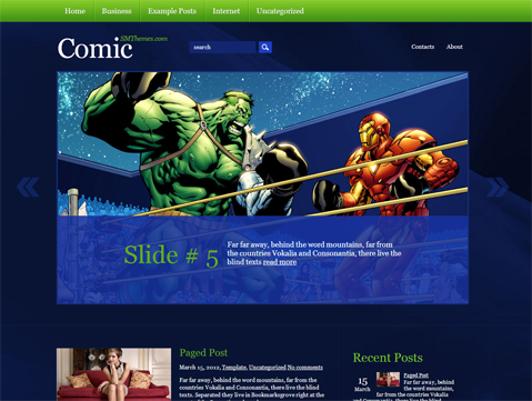 Comic Free WordPress Theme