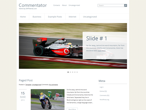 Commentator WordPress Theme