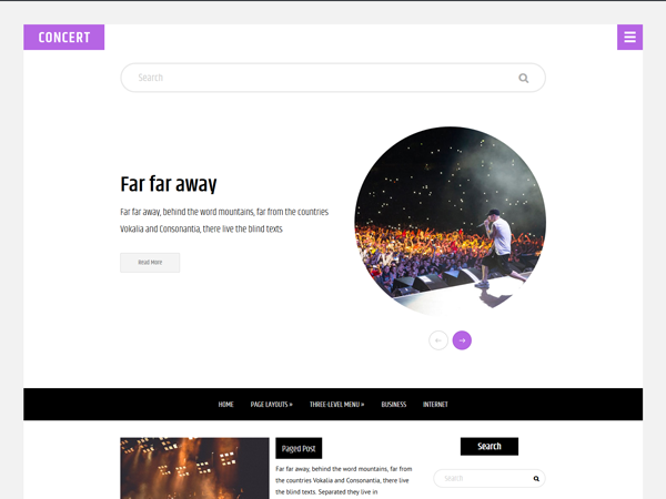 Concert Free WordPress Theme