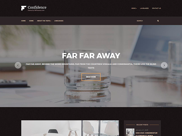 Confidence Free WordPress Theme