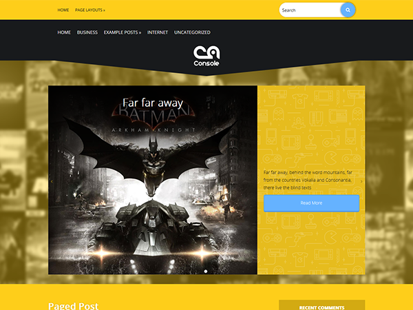 Console Free WordPress Theme