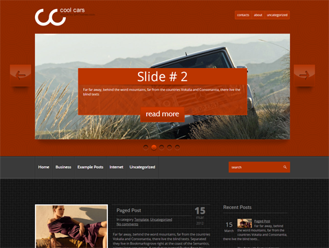 CoolCars Free WordPress Theme