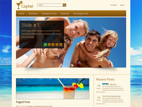 Cophel Free WordPress Theme