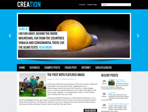 Creation WordPress Theme