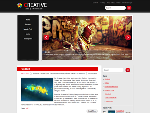 Creative Free WordPress Theme