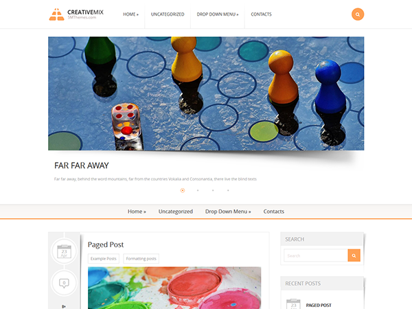 CreativeMix Free WordPress Theme