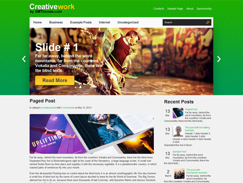 CreativeWork WordPress Theme