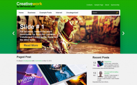 CreativeWork Free WordPress Theme