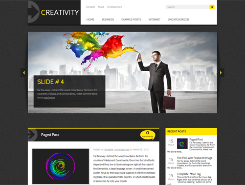 Creativity Free WordPress Theme