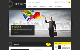 Creativity Free WordPress Theme