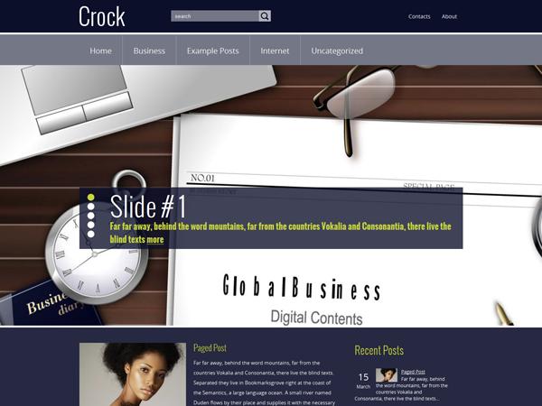 Crock Free WordPress Theme