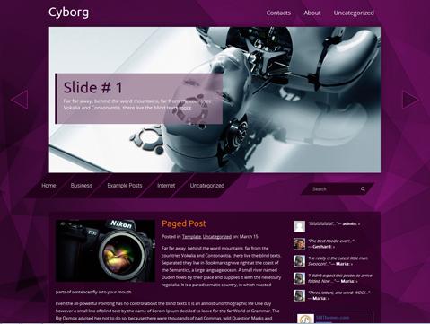 Cyborg WordPress Theme
