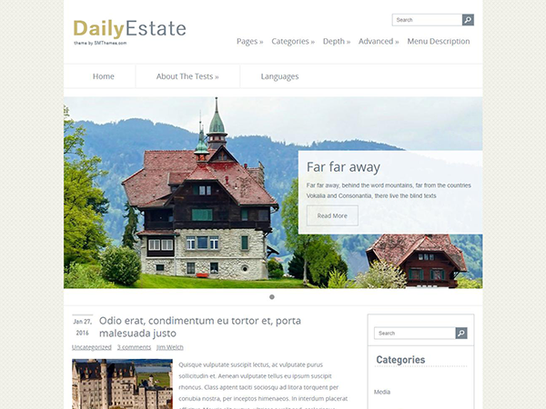 DailyEstate Free WordPress Theme