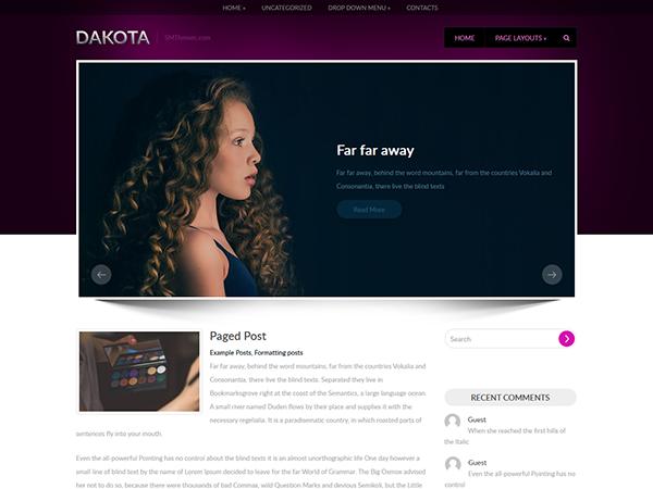 Dakota Free WordPress Theme