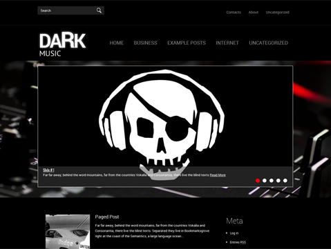 DarkMusic Free WordPress Theme