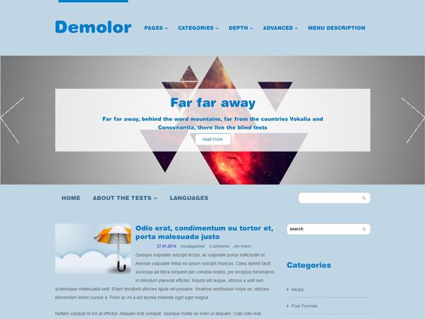 Demolor Free WordPress Theme