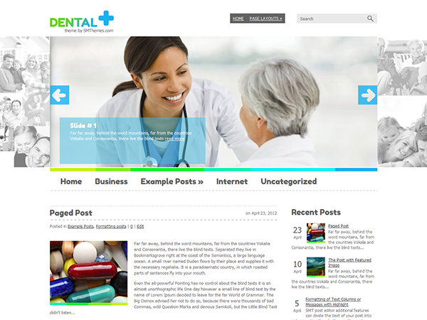 Dental WordPress Theme free Download Templates