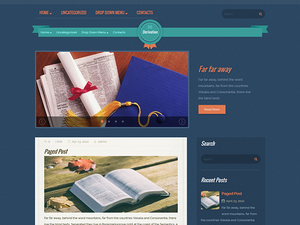 Derivation Free WordPress Theme