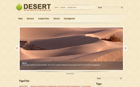 Desert Free WordPress Theme