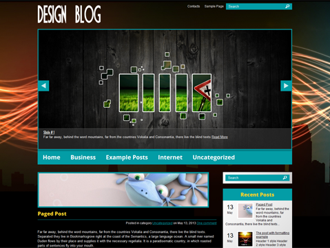 DesignBlog WordPress Theme