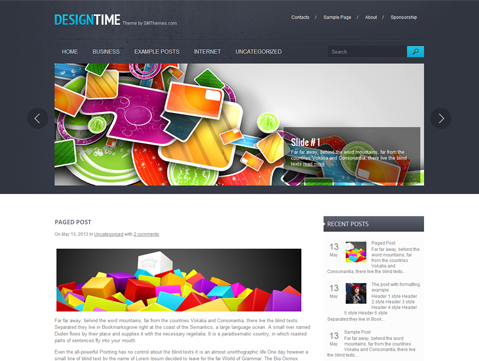 DesignTime Free WordPress Theme