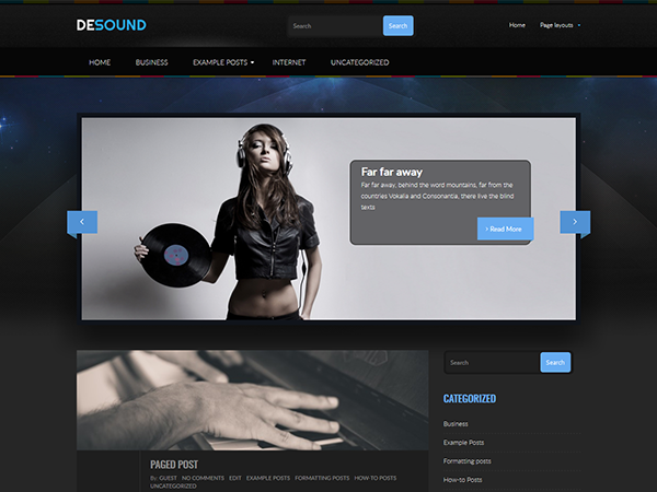 Desound Free WordPress Theme