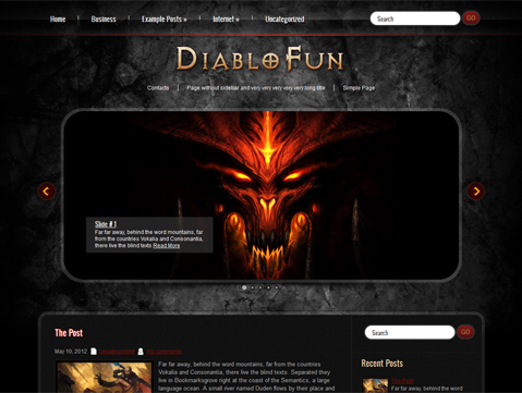 DiabloFun WordPress Theme
