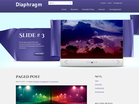 Diaphragm Free WordPress Theme