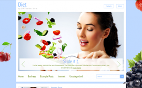 Diet Free WordPress Theme