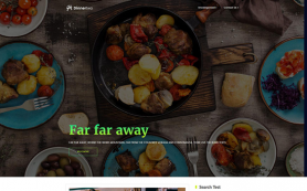 DinnerTwo Free WordPress Theme