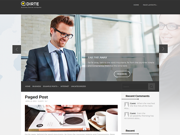 Dirte Free WordPress Theme