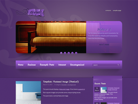 Divan Free WordPress Theme