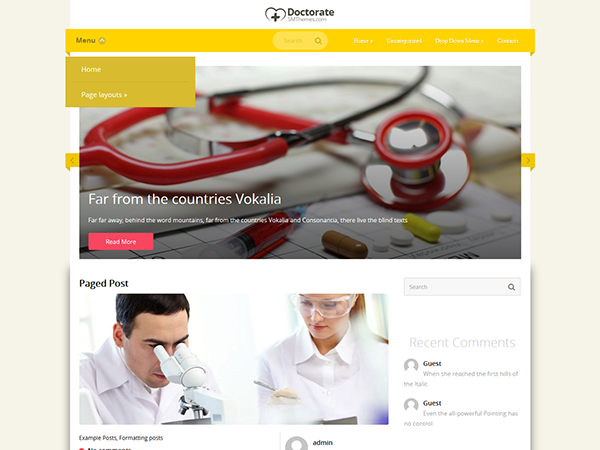 Doctorate Free WordPress Theme