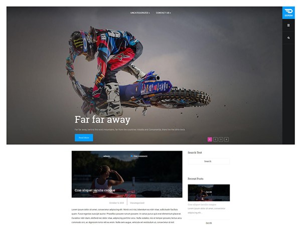 Dorom Free WordPress Theme