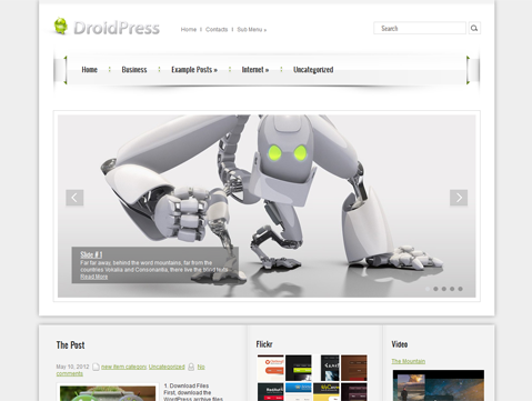 DroidPress WordPress Theme