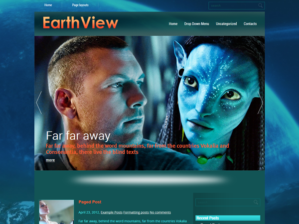 EarthView Free WordPress Theme
