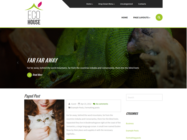 EcoHouse Free WordPress Theme