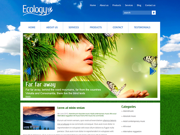 Ecology Free WordPress Theme