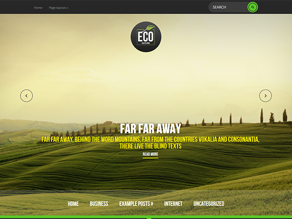 EcoNature Free WordPress Theme