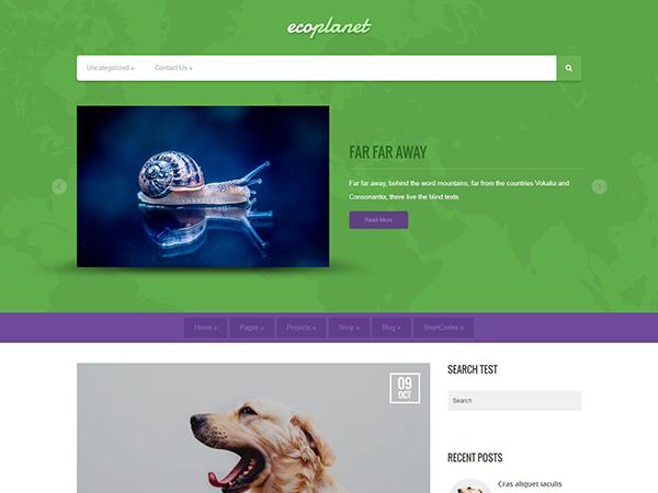 EcoPlanet WordPress Theme