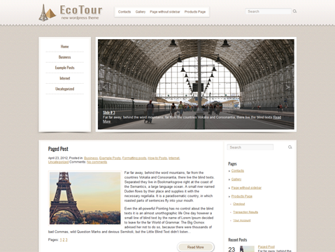 EcoTour WordPress Theme
