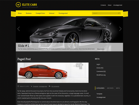 EliteCars WordPress Theme