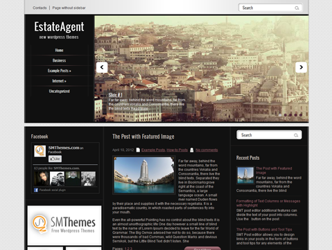 EstateAgent Free WordPress Theme