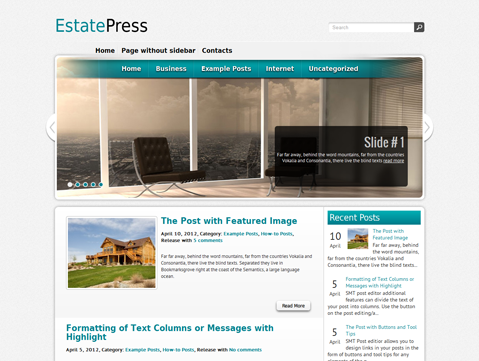 EstatePress Free WordPress Theme