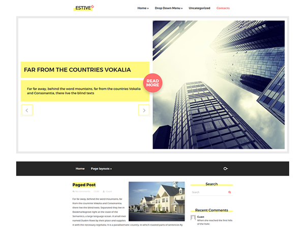 Estive WordPress Theme